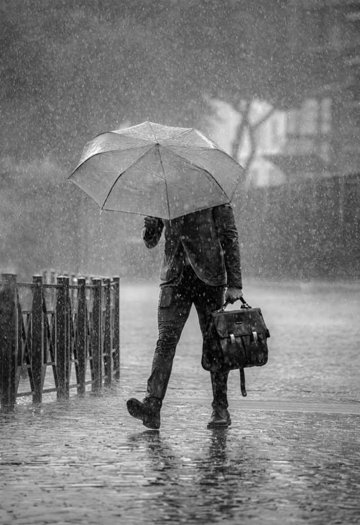 1. Winner of the Sweetman Monochrome Trophy and the Society Trophy for Best Print in the Exhibition Rain Man by Ben Hull